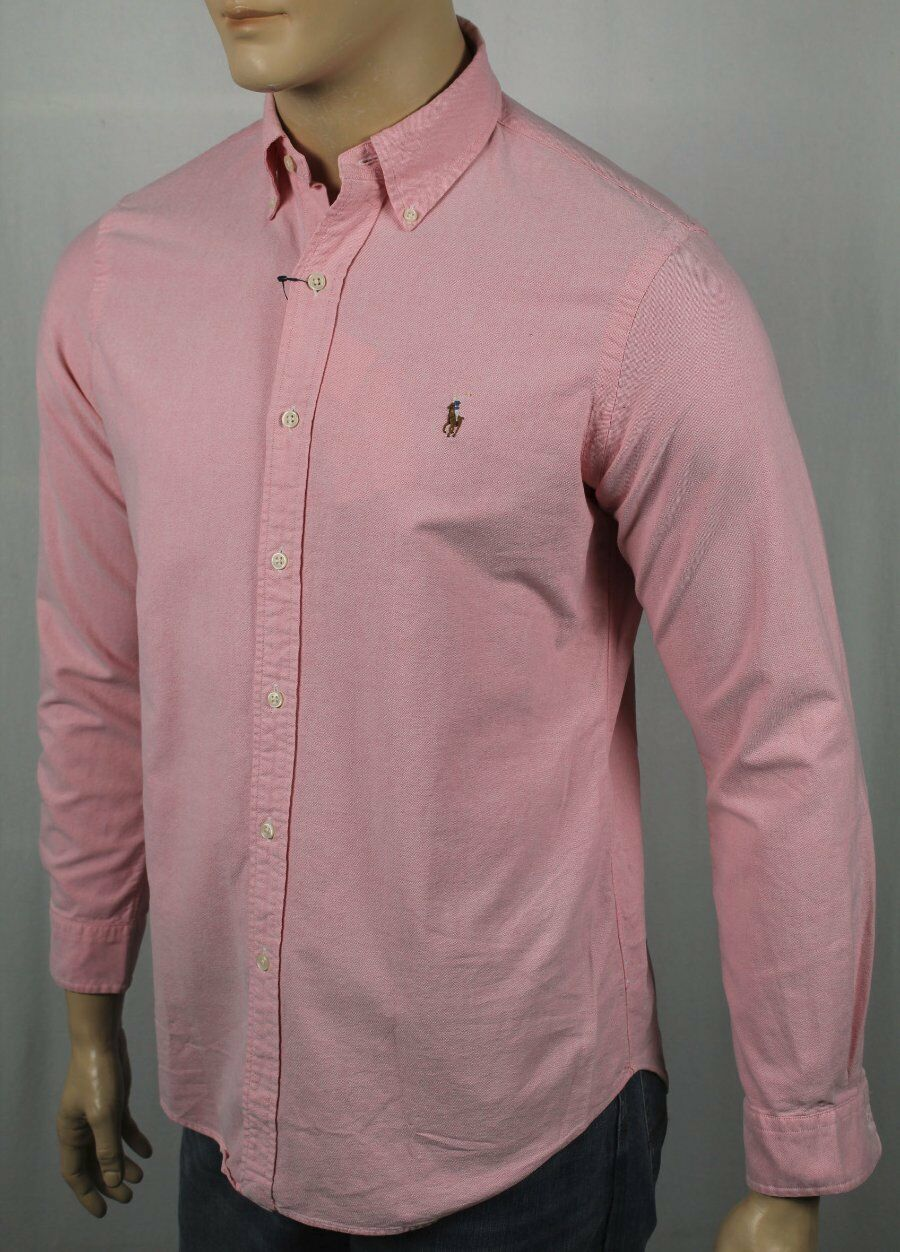 Ralph Lauren Pink Oxford Classic Dress Shirt Multi colord Pony NWT