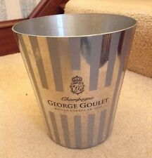 VINTAGE GEORGE GOULET CHAMPAGNE ICE BUCKET FRANCE METAL COOLER WINE BAR PARTY
