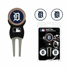Detroit Tigers MLB Team Golf Divot Tool with 3 Magnetic Ball Markers