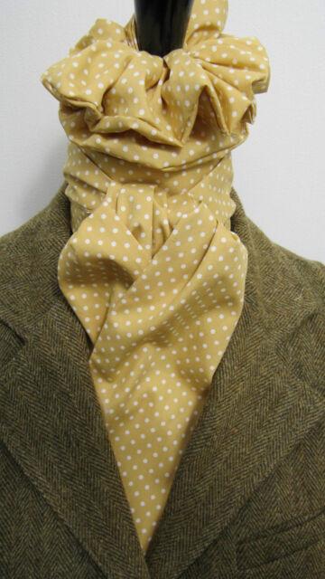 Self tie Burgundy /& Cream Pin Dot Cotton Riding Stock /& Scrunchie Hunting Tie