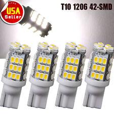 4x Pure White T10 194 W5W Trailer 42-SMD LED Backup Reverse Light Bulbs