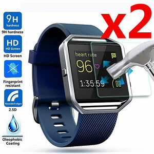 2-X-Premium-Tempered-Glass-Film-Screen-Protector-For-Fitbit-Blaze-Smart-Watch