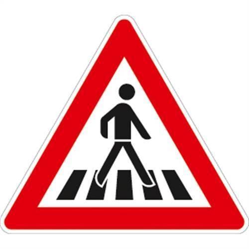 Aufstellung links Alu RA2 Fußgängerüberweg VZ145-22 90cm SL