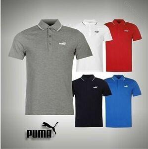 Herren-Original-Puma-Nr-1-Logo-Pique-Polohemd-Kurzaermeliges-Top-Groesse-S-M-L-XL-XXL