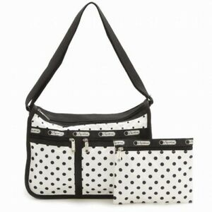 Details About Lesportsac 7507 Deluxe Everyday Bag Sun Multi Cream Nwt