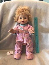 """Fisher Price  Little Mommy Walk N Giggle Walking Talking Baby Doll 15.5"""""""