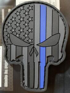 """Prix Bas Avec 5ive Star Gear Mince Blue Line L.e. Punisher Crâne Patch Moral 2.25"""" X 1.75"""" Pvc-afficher Le Titre D'origine Grandes VariéTéS"""