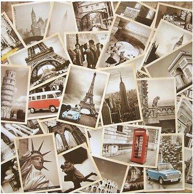 Lot of 32p Vintage Post card Postcard Postcards Scenery Building of Paris/Roman