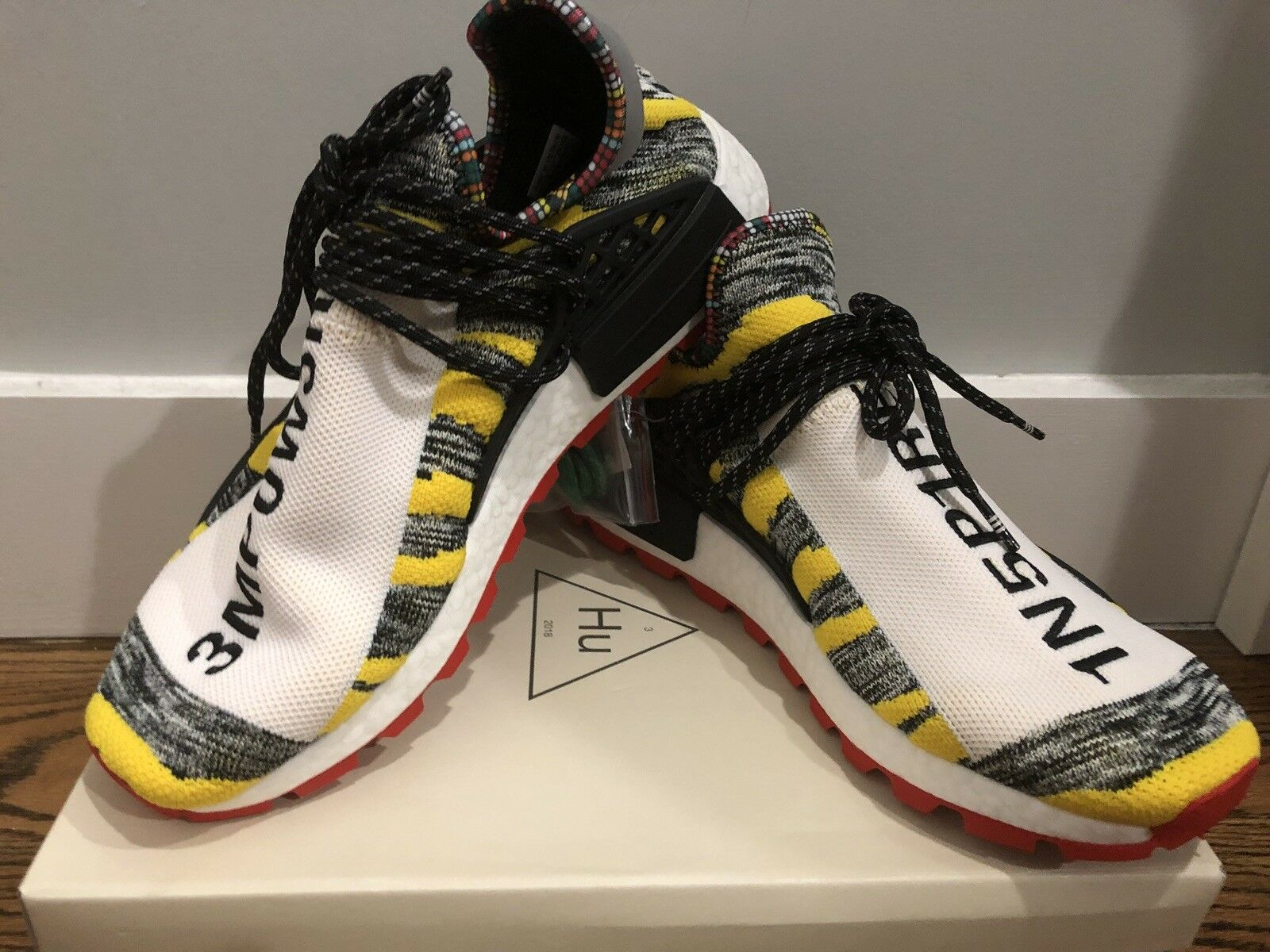 Adidas Pharrell Solar Hu NMD (Black Red Yellow) SOLD OUT ONLINE