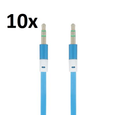 Handy-zubehör Preiswert Kaufen 10x 1m Aux Kabel Stereo 3,5mm Klinke Audio Klinkenkabel Für Handy Auto Blau Hindernis Entfernen Audiokabel & Adapter