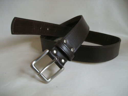 LEATHER MONEY BELT BROWN LEATHER