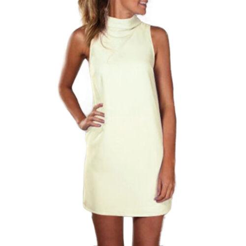 Gr.36-48 Damen Minikleid Sommer Strandkleid Langtop Tunika Kleider Partykleid
