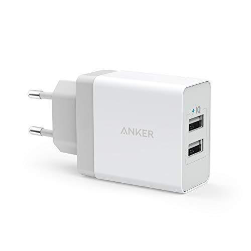 Anker 24W 2 Port USB Ladegerät mit PowerIQ Technologie, Reise Ladegerät für