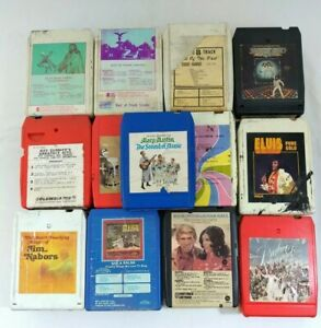8-Track-Tape-Lot-of-24-Elvis-Streisand-Sinatra-Polka-amp-More