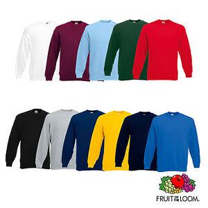 Fruit-of-the-Loom-Set-in-Sweatshirt-Herren-Pullover-11-Farben-S-3XL-62202
