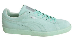 Puma Suede Classic Mono Ref Iced Mens Trainers Lace Up Shoes Mint ... 050639510