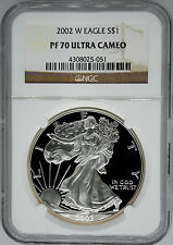 2002-W NGC PF70 Ultra Cameo Proof Silver Eagle