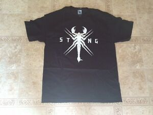 STING-WWE-Authentic-034-STINGER-034-T-shirt-Black-Shirt-Men-039-s-LARGE-Brand-New