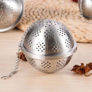 Acier Inoxydable Verrouillage Spice Tea ball Strainer Mesh Infuseur café thé filtre,