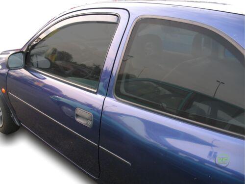 Vauxhall Corsa B mk1 3 puertas 1993-2001 conjunto de frente viento desviadores 2pc Heko