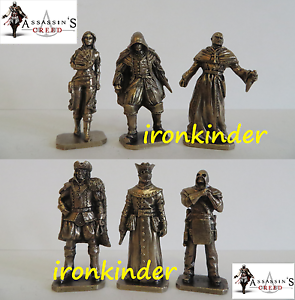 Assassin's Creed bronze metall collectible miniature figure 40mm Extra Rare set