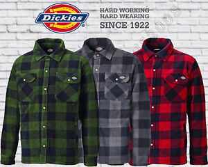 cf329cfc418 Details about Dickies Mens Portland Padded Check Lumberjack Work Shirt  Jacket SH5000 Small-3XL