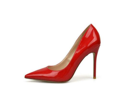 Women Patent leather Pointed High Stiletto Heels Court Shoes Party Evening Pumps