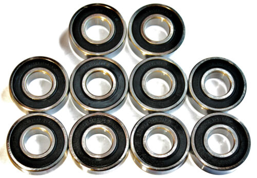 10 pack 688 2rs 8x16x5mm HIGH PERFORMANCE SEALED BEARINGS. FITS MICRO SKATES