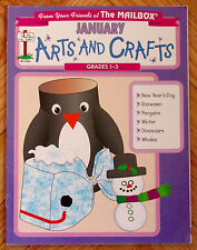 The Mailbox JANUARY ARTS AND CRAFTS Grades 1-3 snowmen penguins dinosaurs whales