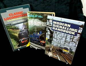 Vintage-Railway-Book-Bundle-Signalling-Somerset-Dorset-Rail-Classic-Locomotives