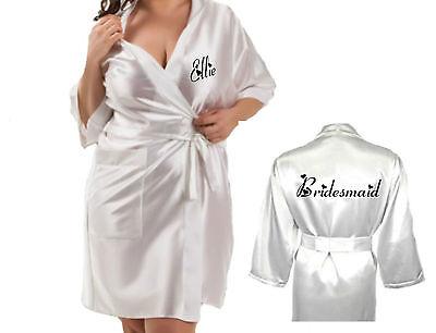 Attivo Personalizzata Nozze Robe Vestaglia Setosa Sposa Damigelle D'onore Madre Sposo Nuovo-mostra Il Titolo Originale Facile Da Riparare