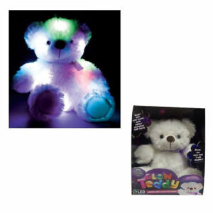Super-Soft-Glow-Teddy-Size-approx-27cm-Tall-with-Multi-Colour-LED-Lights