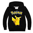 Kids Pikachu Hoodie Boys Girl Casual Long Sleeve Pullover Sweatshirt Jumper Tops