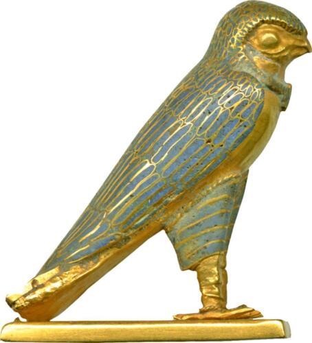 Autocollant sticker egypte antique ancienne egyptien faucon horus or