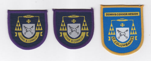 CATHOLIC BOY SCOUTS OF IRELAND CBSI DOWN AND CONNOR REGION SCOUT PATCH 3 VAR