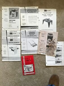 8 Vintage Sears Craftsman Owners Manual Instructions Lot