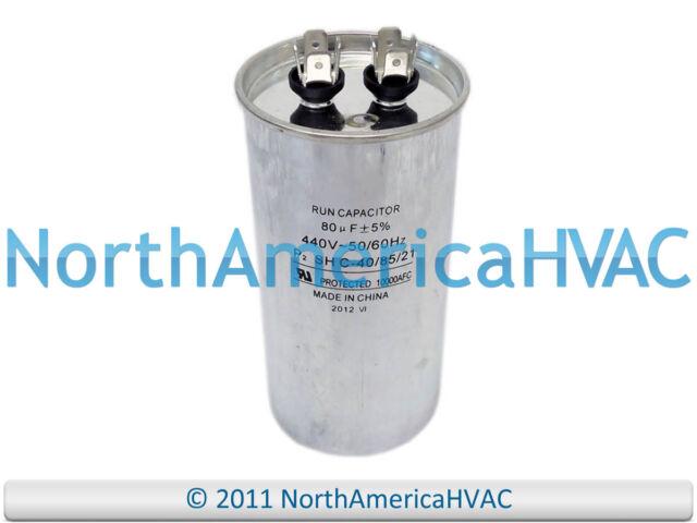 80 MFD 370 VAC Round Run Capacitor PRC80 Packard NEW **Free Shipping**