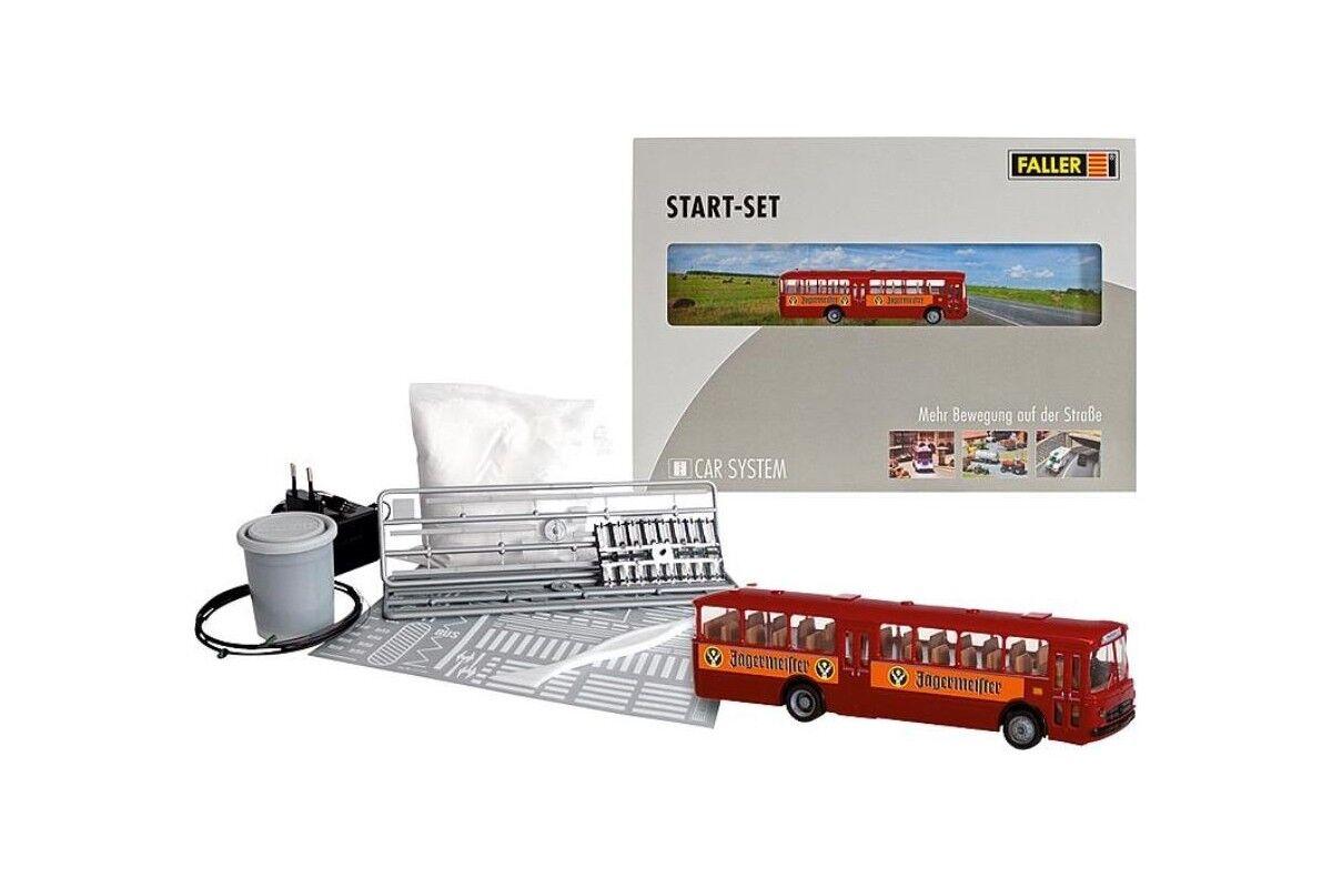 Faller 161498 HO 1 87 Kit de démarrage Car System MB O317k Bus Jägermeister