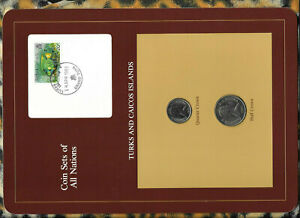 Coin-Sets-of-All-Nations-Turks-amp-Caicos-UNC-1-2-amp-1-4-Crown-1981-18APR83