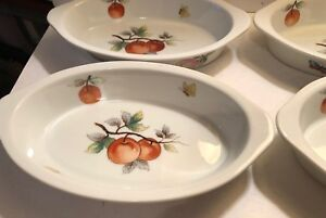 Set of 4 FRUIT OVEN TO TABLE Cookware Oval Casserole Dish 7239 8\