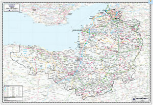 SOMERSET COUNTY WALL MAP Map Scale 1100000 Somerset Wall Map eBay