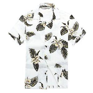 Men-Aloha-Shirt-Cruise-Tropical-Luau-Beach-Hawaiian-Hawaii-Casual-Lily-Palm-Olul