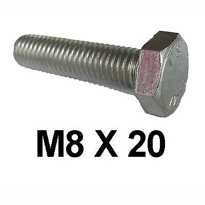 M8 x 20 Stainless Steel Hex Bolts / Set Screws 8mm x 20mm Stainless Bolts DIN933