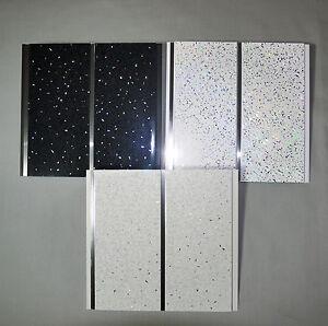Image Is Loading Black White Or Platinum Sparkle Chrome Wall Panels