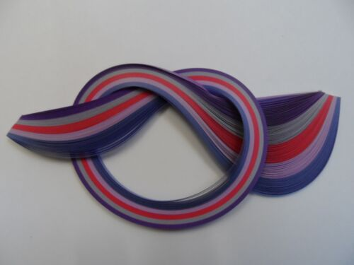 Purples Quilling Paper 10mm 100 strips