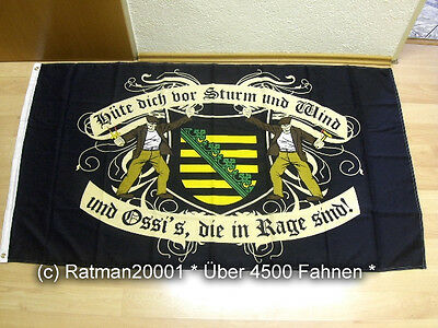 90 x 150 cm Fahnen Flagge DDR Mecklenburg Hüte dich vor Sturm Wind