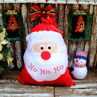 1pcs Santa Claus Large Cloth Gift Bags Christmas Present Sack Stocking 4363cm