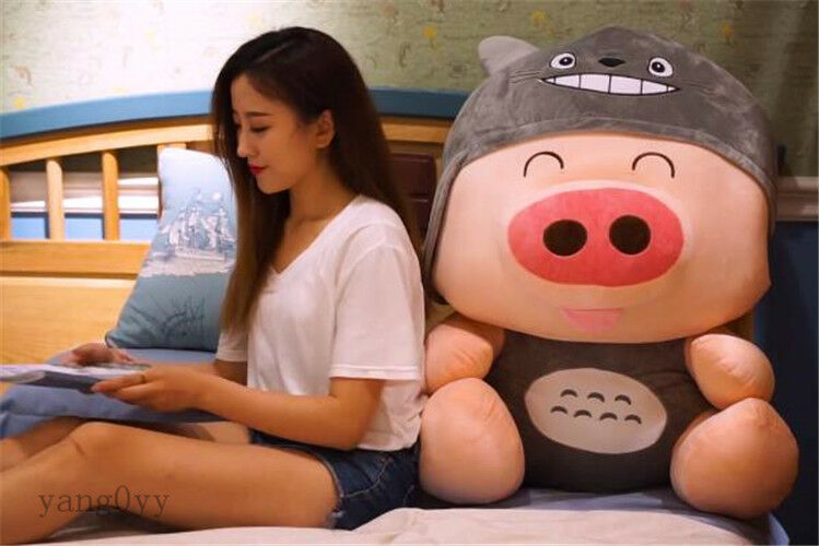 37'' Giant My Neighbor Totoro Pig Plush Stuffed Big Soft Toy Dolls Unique Nuovoly