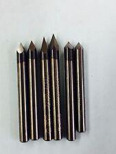 Engraving Tools Carbide Cutters bit 30 45 60 degree set 6pc 1/8 dia  Dremel Cnc