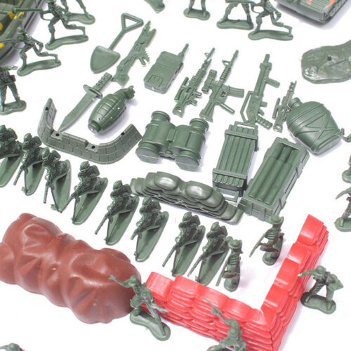 290pcs Military Playset Plastic Toy 4cm Soldier Army Men Figures Kids Toys